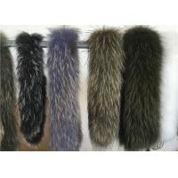 Extra Large Raccoon Furry Necks Collars ,  Warm Dyed Winter Coat Replacement Fur Collar  Manufactures