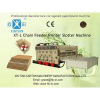 Lubrication Carton Box Paper Slitting Machine With Chain Feeding Manufactures