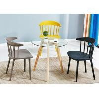 China Molded Plastic Construction Colorful PP Dining Chairs on sale