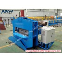 Blue Roofing Sheet Crimping Machine , Hydraulic Crimp Panel Curving Machine Manufactures