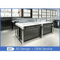 OEM Glossy Black Stainless Steel Showcase Display For Jewelry Manufactures