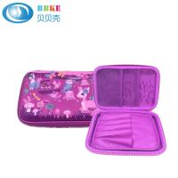 Quality Custom Waterproof Colorful PU Leather EVA Pencil Case No Handle 220x150x40mm for sale