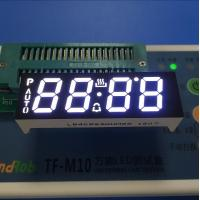 Ultra White Custom LED Display , Seven Segment Display Common Anode For Oven Timer Manufactures