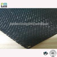 China Black material  Polypropylene Woven Geotextile Stabilization Fabric Black Color UV Resistance on sale