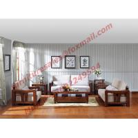 High Quality Solid Wooden Frame with Upholstery Sofa Set Manufactures