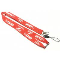 Cell Phone Neck Strap White Logo Safety Break Metal Hook Smartphone Neck Strap Manufactures