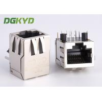 Right Angle 10 / 100 BASE RJ45 modular Jack with transformer Ethernet Cable Connector Manufactures