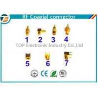 PCB Assembled RG174 RF Coaxial Connector MCX Gold Plated Less Weight Manufactures