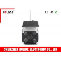 Solar Powered Outdoor Waterproof Security Cameras 120 Degrees 1080P Wide Angle 2W LED Light Manufactures