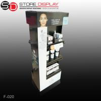 Advertising cardboard floor display stand for cosmetic Manufactures