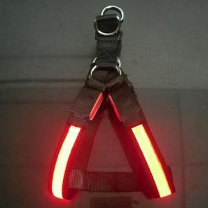 Orange Silknet LED Flashing Nylon Dog Harness Manufactures