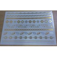 Body Custom Temporary Tattoo shimmer metallic temporary tattoo Manufactures