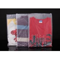 China Custom Design Large Clear Plastic Bags With Zip Top For Garment PE Material on sale