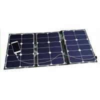 60W Outdoor Solar Panel Mobile Charger , Waterproof Folding Solar Powered Mobile Charger Manufactures