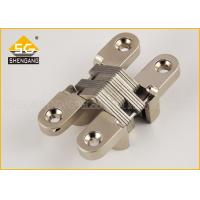 Zinc Alloy 180 Degree Invisible American Hinge For Interior Cupboard Door Manufactures