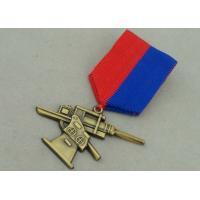 Quality Antique Gold Awards Medals , Zinc Alloy Die Casting Military 3D Awards Medal for sale