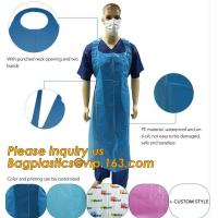 China Clear Medical Disposable Polythene Apron,Medical Disposable PE Apron,Medical Colored Disposable PE Apron For Hospital on sale