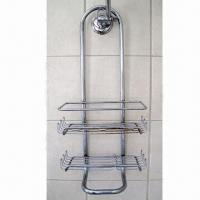 Bathroom Shower Rack, Made of Metal, Customized Designs are Accepted Manufactures