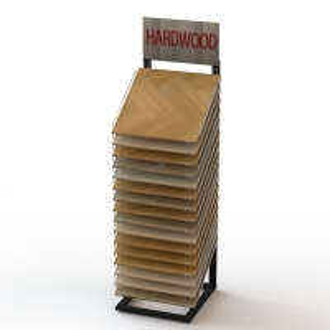 Free Stand 16 40x40cm Hardwood Floor Tile Display Rack Manufactures