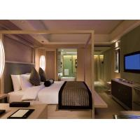 Hotel contract furniture , comfortable Solid wood bedroom furniture sets Manufactures