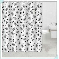 China White black Eco Friendly Waterproof PVC Shower Curtain for hotel / home on sale