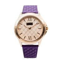 China Purple Women Leather Strap Watches Water Proof Leather Belt Watches Alloy Case on sale