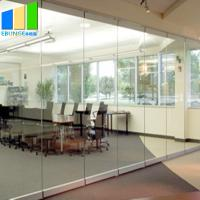 China Collapsible Movable Partition Walls / Clamp Frameless Glass Partition Wall For Conference Center on sale