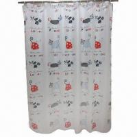 China 2012 Luxury Polyester Printed Shower Curtain, Fashionable Design on sale