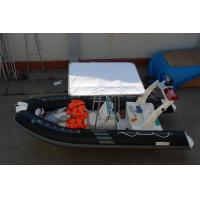 China 235 KGS Largest Inflatable Boat , Simple Design Inflatable Fishing Boats With Motors on sale