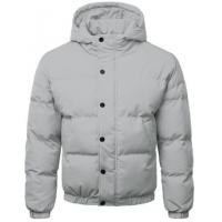 China Hooded Men Seamless Down Coat 160g Polyester Filling Type Windproof Waterproof on sale