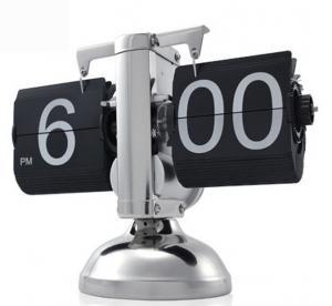 China Internal Gear Operated Retro Flip Down Clock on sale