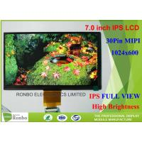 7 Inch Tablet Transmissive Lcd Screen , IPS LCD Screen 1024 * 600 Resolution Manufactures