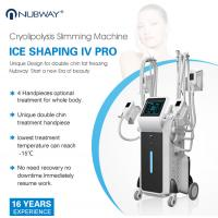 Four handles work simultaneously cryolipolysis body shaping slimming machine Manufactures