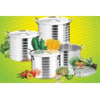 China 8pcs high quality stainless steel stock pot & cooking pot & casseroles &8L/11L/13L /15L cookware set silver on sale