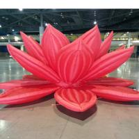 China Ground Stand Inflatable Lighted Flower Decoration on sale
