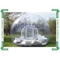 PVC / TPU Clear Transparent Inflatable Bubble Tent Room Customized Manufactures