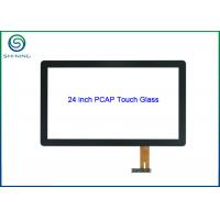 24 Glass-on-glass Projected Capacitive Touch Screen For Multi-touch Monitor Manufactures