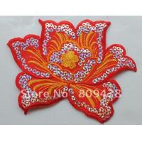 Quality letters words D flat embroidery patch for sale