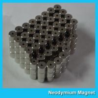 China Industrial Neodymium Rare Earth Magnets Strong NdFeB Magnet Rings With Hole on sale