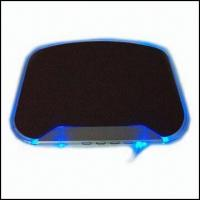 China Cool Blue Light Mouse Pad with USB Hub on sale