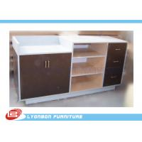 China MDF Laminated Shop Cash Counter With Drawers , Common Style Retail Desk Counter on sale