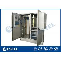 AC 220V Air Conditioner Outdoor Electronic Equipment Enclosures Two Compartments Manufactures