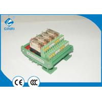 DC Output Board PLC Relay Module ,  4 Channel Weidmuller Relay Board DPDT Manufactures