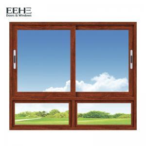 Red Aluminium Insulated Glass Windows / Two Tracks Powder Coated Aluminium Windows Manufactures