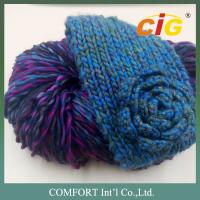China 100 Acrylic / Cotton / Wool Colorful Yarn Knitted For Woman Scarf In Spring / Winter wholesale