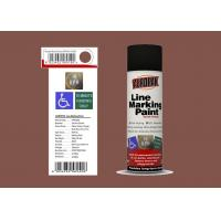 AEROPAK 500ML mission brown color Line Marking Spray Paint for road with SGS