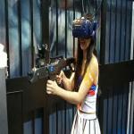 Black Color Battlegrounds Free-Roam  Vr Arcade Machines / VR Shooting Simulator Manufactures