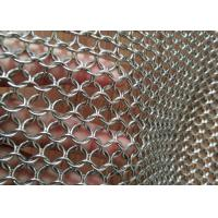 AISI 304 316 Metal Mesh Drapery 1.2mm Wire 10mm For Space Divider / Sun Screen Manufactures
