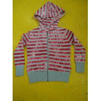 Tie Dyed Multi Strips Basic Hooded Zippered Sweatshirt Jackets Rib Cuff Bottom Manufactures