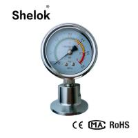 China All stainless steel clamp diaphragm seal sanitary pressure gauge with visual alarm on sale